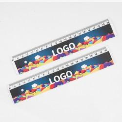 Linijka 20cm Transparentna UV 100szt